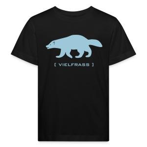 Kinder Bio Shirt Klimaneutral Vielfrass verfressen Tiershirt Shirt Tiermotiv - Kinder Bio-T-Shirt