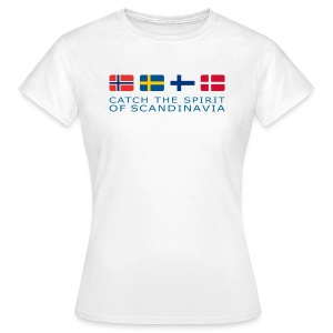 Women's T-Shirt CATCH THE SPIRIT OF SCANDINAVIA blue-lettered - Women's T-Shirt