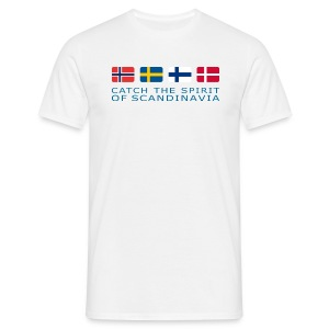 Classic T-Shirt CATCH THE SPIRIT OF SCANDINAVIA blue-lettered - Men's T-Shirt