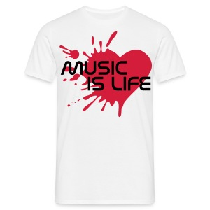 MUSIC IS LIFE HOMME - T-shirt Homme