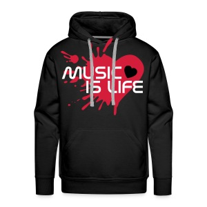 PULL MUSIC IS LIFE - Sweat-shirt à capuche Premium pour hommes