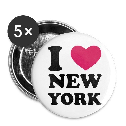 I love New York Button - Buttons mittel 32 mm