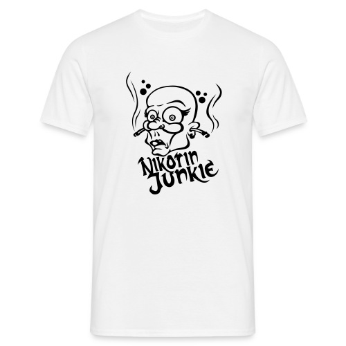 Nikotin Junkie - Männer T-Shirt