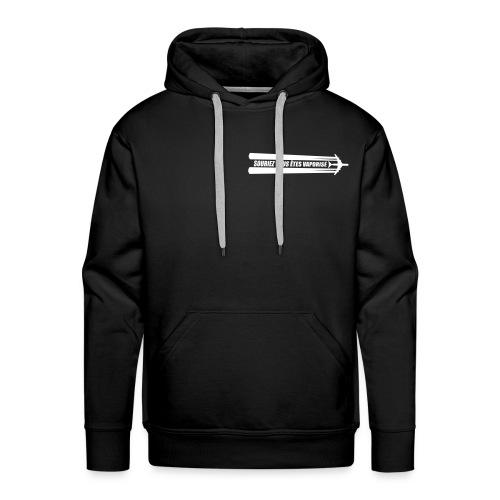 STOP CHEMTRAIL !! - Sweat-shirt à capuche Premium pour hommes