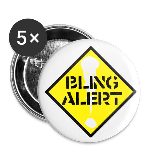 Bling alerst badges - Buttons small 1''/25 mm (5-pack)