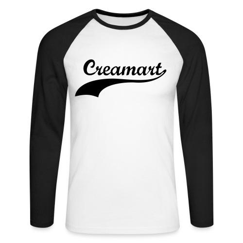 T-shirt manche longue Creamart Homme - T-shirt baseball manches longues Homme