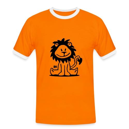 Löwe - Männer Kontrast-T-Shirt