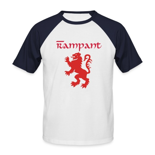 Mens Rampant Lion - Men's Baseball T-Shirt