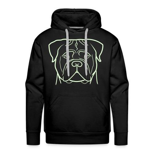 Uomo - Logo FLUO + Manica dx - Felpa con cappuccio premium da uomo