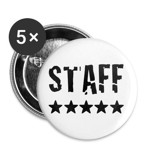 Badge 32mm bleu STAFF (x5) - Badge moyen 32 mm