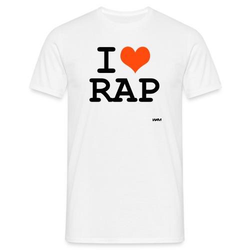 I Love Rap / Men-Shirt Weiss - Männer T-Shirt