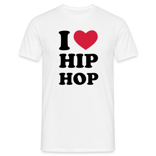 I love HipHop / Men-Shirt Weiss - Männer T-Shirt
