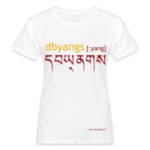 dbyangs Damen T-Shirt - weiß klimaneutral - Frauen Bio-T-Shirt