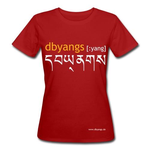 dbyangs Damen T-Shirt - dunkelrot klimaneutral - Frauen Bio-T-Shirt