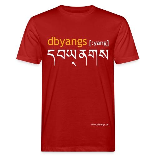 dbyangs Herren T-Shirt dunkelrot klimaneutral - Männer Bio-T-Shirt