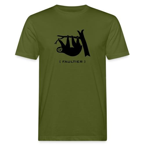 Männer Bio Shirt Faultier Tiermotiv Tiershirt faul Tier - Männer Bio-T-Shirt