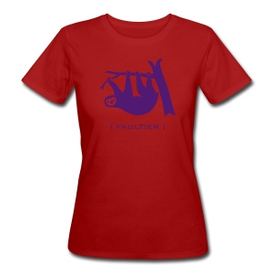 Damen Bio Shirt Faultier Tiermotiv Tiershirt faul Tier - Frauen Bio-T-Shirt