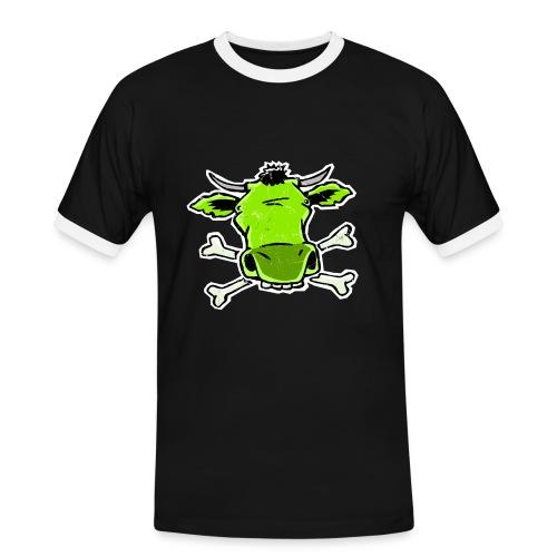 Kuhfresse - Männer Kontrast-T-Shirt