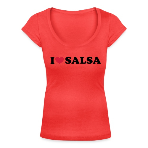 i love salsa for Lady - Women's Scoop Neck T-Shirt