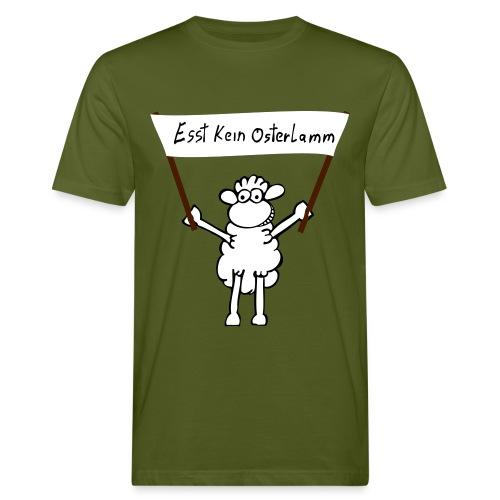 Esst_kein_Osterlamm - Männer Bio-T-Shirt