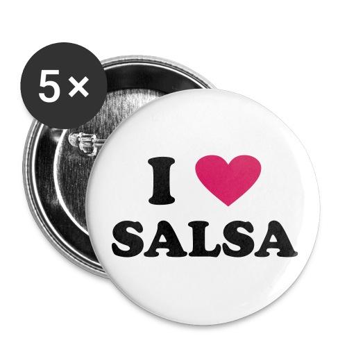 i love salsa - Button Medium  - Buttons small 25 mm