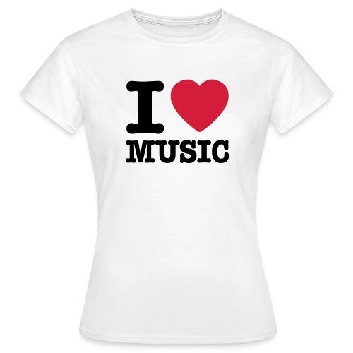 Music T-shirt Dam - T-shirt dam