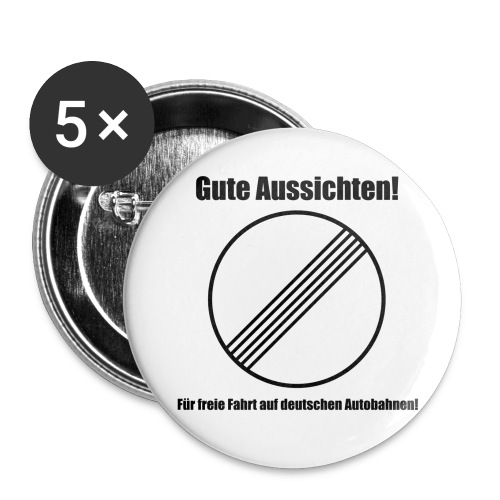 Ende aller Streckenverbote :) BUTTON - Buttons groß 56 mm