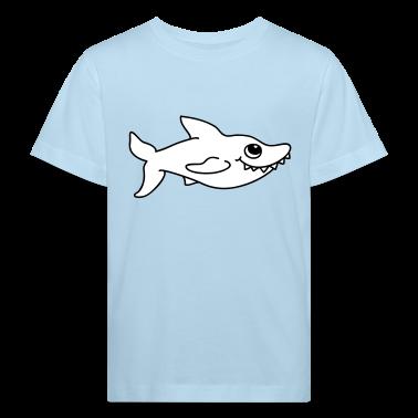 Piccolo squalo bianco T-shirt bambini