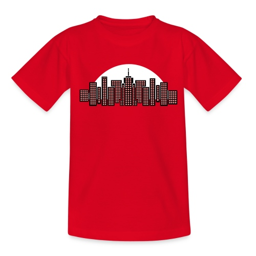 Cityscape Tee Kids' (Red) - Teenage T-Shirt
