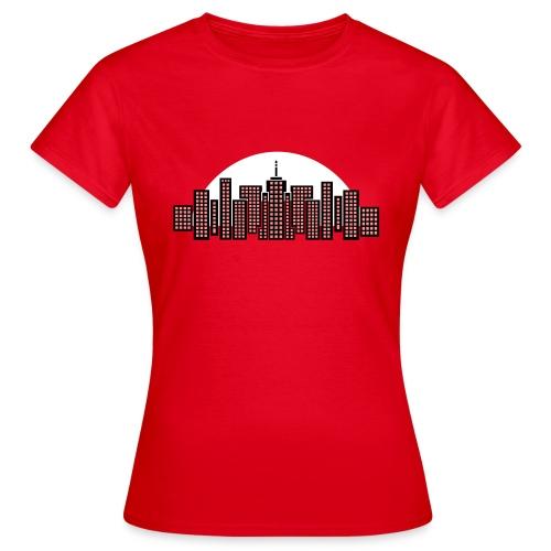 Cityscape Tee Women's (Red) - Women's T-Shirt