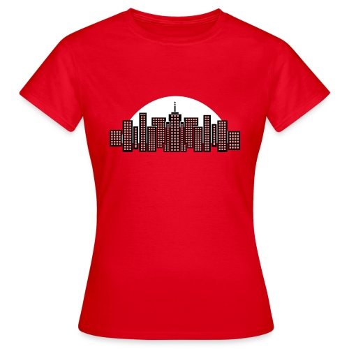 Cityscape Tee Women's (Red) - Women's T-Shirt