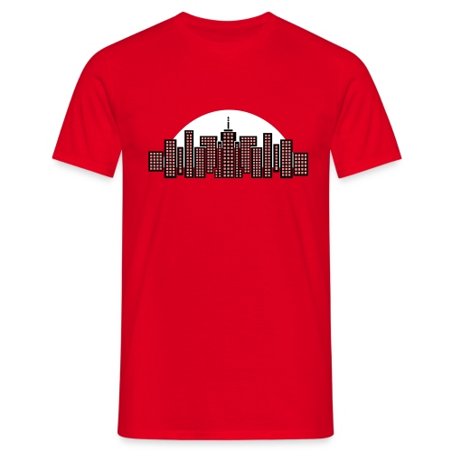 Cityscape Tee Mens' (Red) - Men's T-Shirt