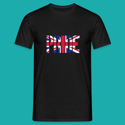 PRIDE Britain Flag, British Flag, Union Jack, UK Flag - Men's T-Shirt