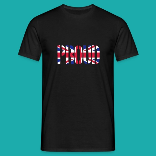 PROUD Britain Flag, British Flag, Union Jack, UK Flag - Men's T-Shirt