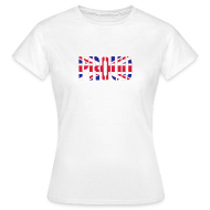 T-Shirts ~ Women's T-Shirt ~ PROUD Britain Flag, British Flag, Union Jack, UK Flag