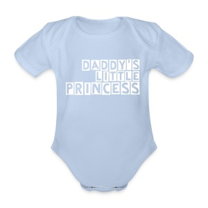 Daddy's Little Princess - Pink Romper - Organic Short-sleeved Baby Bodysuit