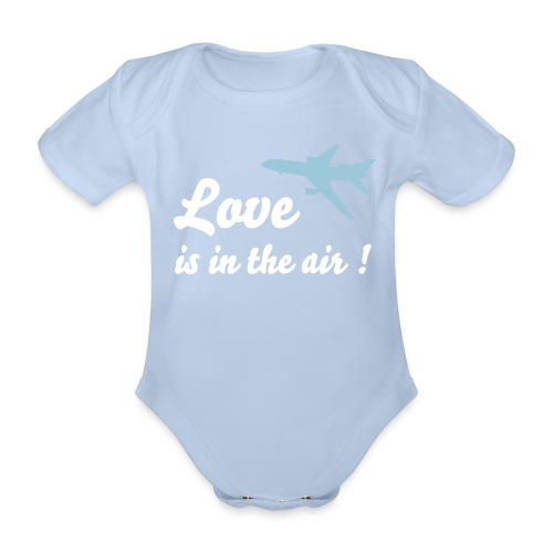 Love is in the air! - Baby Bio-Kurzarm-Body