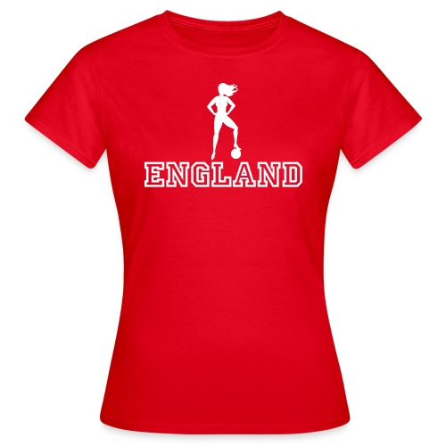 Football Babe England - Women's T-Shirt