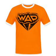 T-Shirts ~ Männer Kontrast-T-Shirt ~ WAP schwarz Kontrast