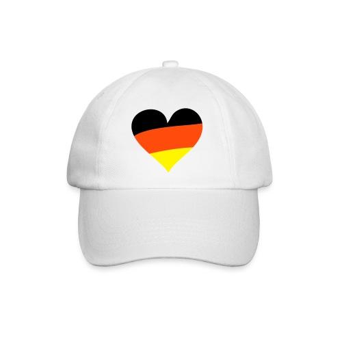 Deutschland Mütze Herz - Baseballkappe