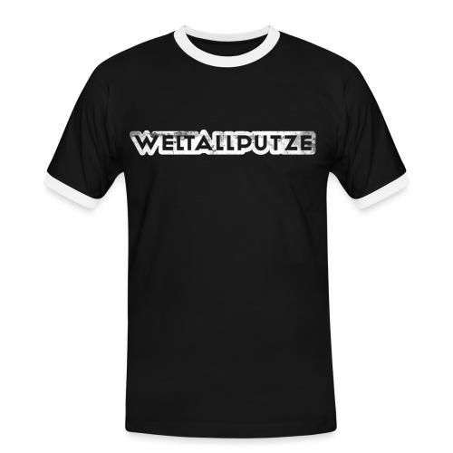 Weltallputze Grunge weiss Kontrast - Männer Kontrast-T-Shirt