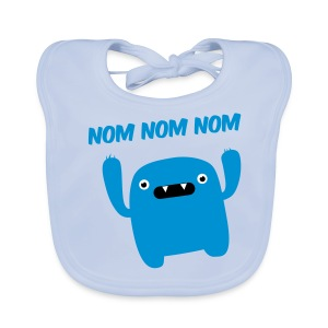 baby BIB boys hungry monster - Baby Organic Bib