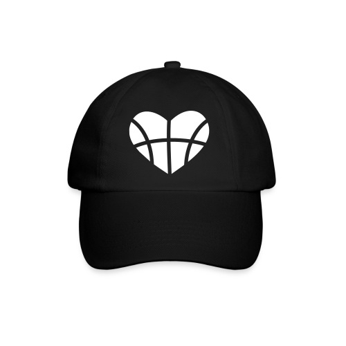 basketball heart baseball cap - Baseball Cap