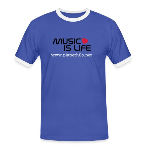 Music is life - Camiseta contraste hombre