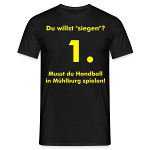 Siegershirt - black/yellow - Männer T-Shirt