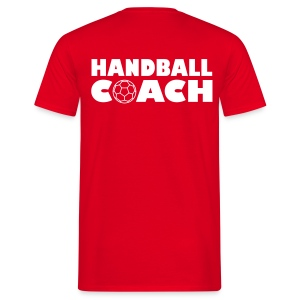 Coach - red/white - Männer T-Shirt