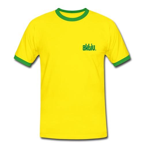 aktiv - Männer Kontrast-T-Shirt