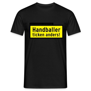 Handballer ticken anders - black - Männer T-Shirt