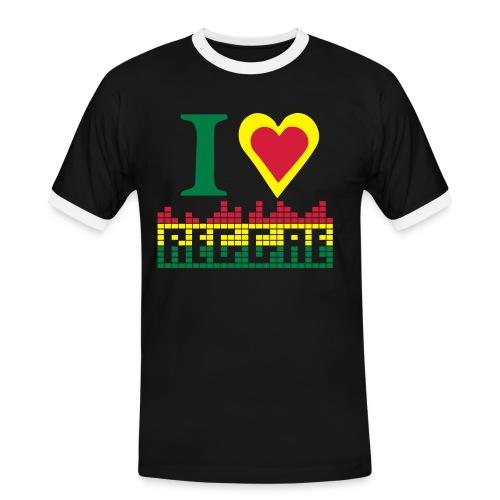 I LOVE REGGAE - Men's Ringer Shirt