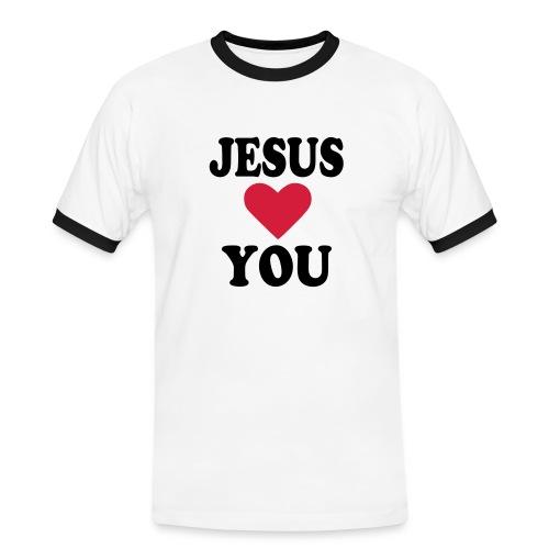 T Shirt Homme Jesus Love You - T-shirt contrasté Homme